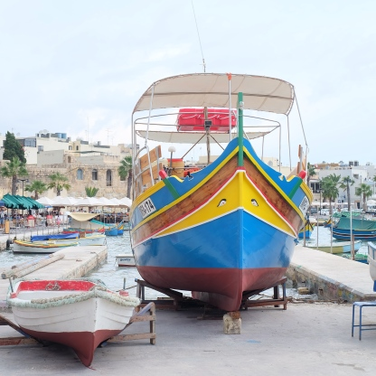 The fishing boat painted with eyes