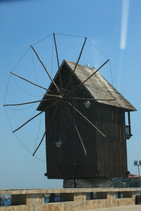 The wooden windmill